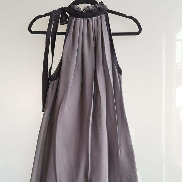 BEDO 100% silk grey and black Mini dress